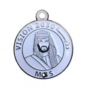 vision 2030 pin badge